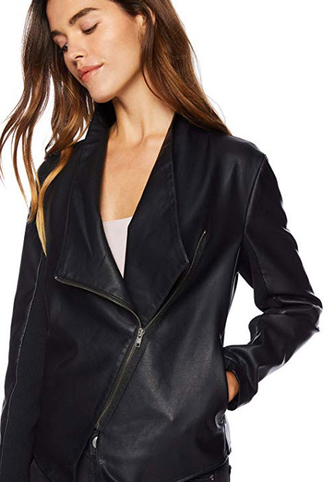 BB Dakota Women's Gabrielle Vegan Leather Jacket black