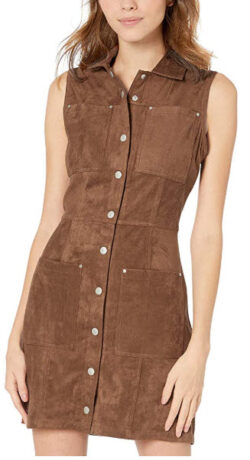 BB Dakota Women's Heaven Faux Suede Shirt Dress