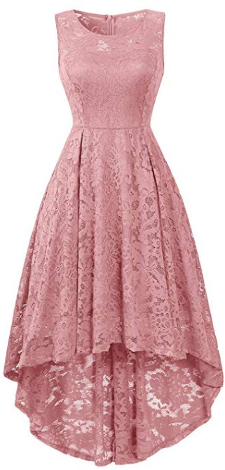 BBX Lephsnt Womens Lace Cocktail Dress Elegant Floral Sleeveless Swing High Low Formal Prom Dres ...