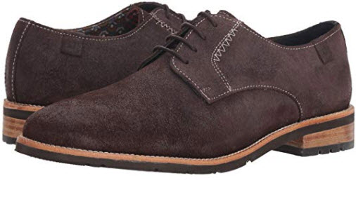 Ben Sherman Men's Rugged Leather Ox Oxford brown suede