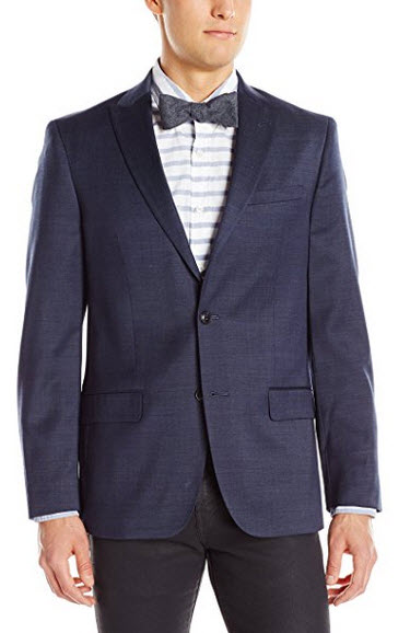 Ben Sherman Men's Slim Fit Ruxley Two Button Suit Separate Jacket navy
