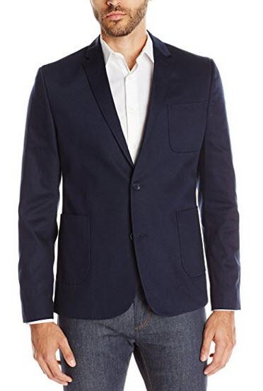 Ben Sherman Men's Woven Pique Blazer.