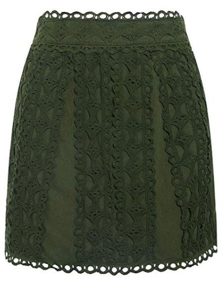 BerryGo Women's Women's Lace High Waist Pencil Skirts