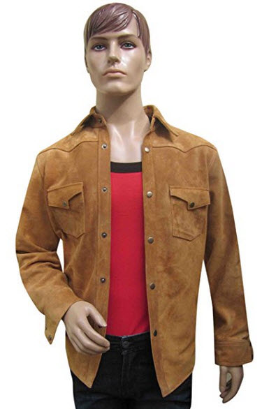 Bespoke Tailored Leather Suede Leather Shirt.