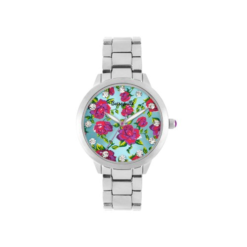 Betsey Johnson Floral Bling Watch