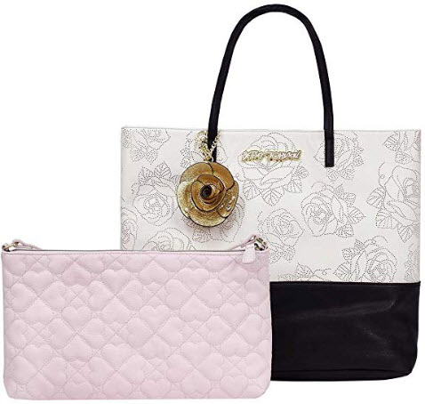 Betsey Johnson 2 in 1 Rose Tote Bag
