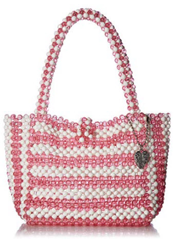 Betsey Johnson Just Bead It Bag, pink