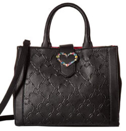 Betsey Johnson Women's Heart Jewel Satchel
