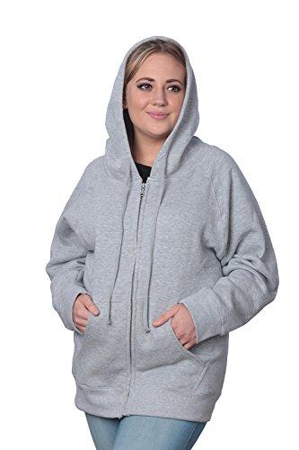 Beverly Rock Womens Plus Size Heavyweight Active Fleece Full Zip-Up Sweatshirt