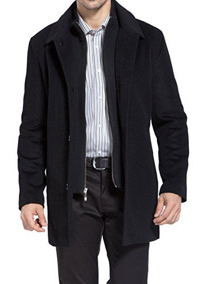 BGSD Men's 'Justin' Cashmere Blend Car Coat.