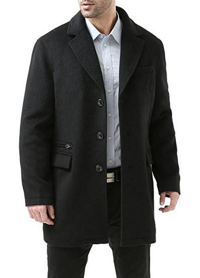 BGSD Men's 'Miles' Cashmere Blend Walking Coat.