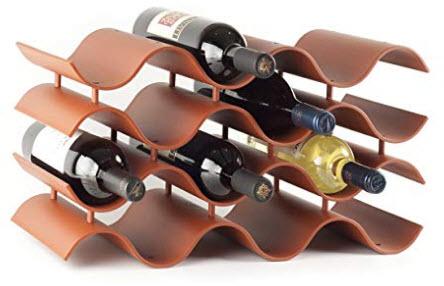 Birando Wave Wine Rack (12Bottle, Terra Cotta)