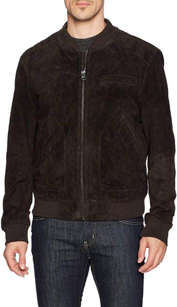 [BLANKNYC] Brown Bear Suede Bomber Outerwear