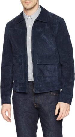 [BLANKNYC] Russian Navy Suede Jacket Outerwear