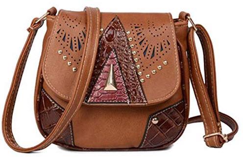 Blazing Autumn Country/Western Shoulder Crossbody Handbag brown