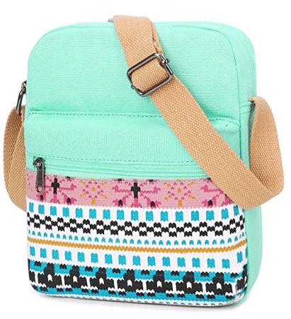 BLUBOON Women Crossbody Purse Messenger Bag Cell Phone Wallet Canvas Lightweight Shoulder Bag wi ...