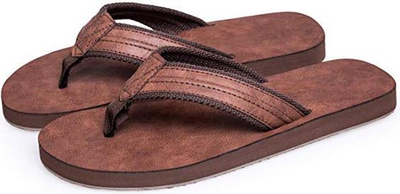 Boloren Mens Flip Flops Light Weight Sandals Classical Slippers coffee 2