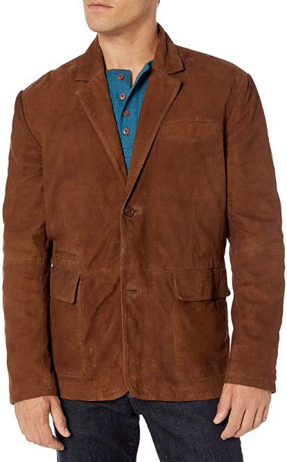 Boston Harbour Vintage Men's Suede Travel Blazer