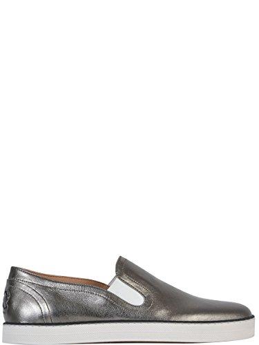 Bottega Veneta Women's 407124VAVG31117 Silver Patent Leather Slip On Sneakers