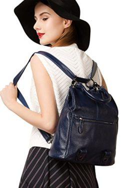 BOYATU Womens Leather Backpack Purse Mini Shoulder Bag Stylish Rucksack