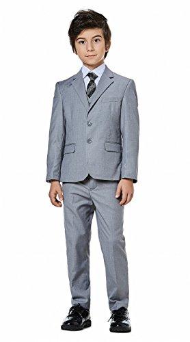 Boys Classic Fit Formal Dress Suits Set 5-Piece by WQI.HAN