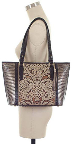 BRAHMIN Women's Genuine Leather Medium Asher Gold Bel Canto