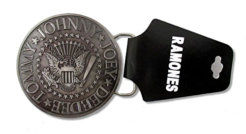 Bravado Adult Ramones Classic Circle Seal Logo Band Metal Belt Buckle