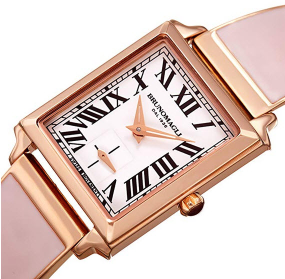 Bruno Magli Women's Valentina Enamel Bangle Bracelet Swiss Quartz Watch