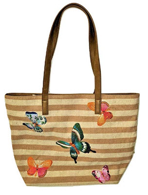 Bueno Collection Embroidered Butterfly Tote