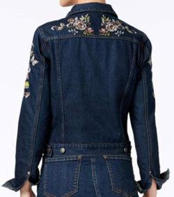 Buffalo David Bitton Womens Embroidered Jean Jacket, love