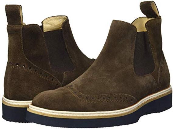 Bugatchi Mens Lace Up Boot Chelsea, Testa di Moro, 10.5 Medium US