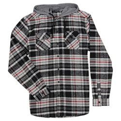 Burnside Men's Hooded Flannel Shirt