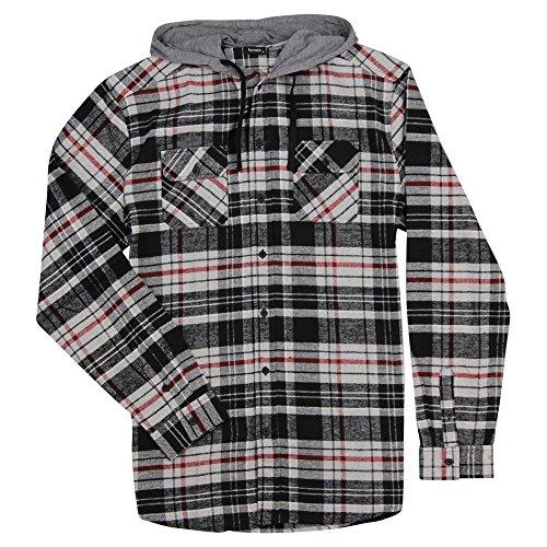 Burnside Men's Hooded Flannel Shirt