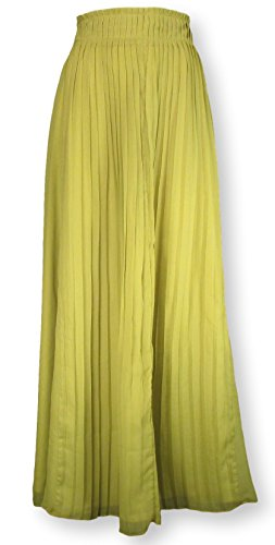 By fumblin Women's Pleated Maxi Skirt