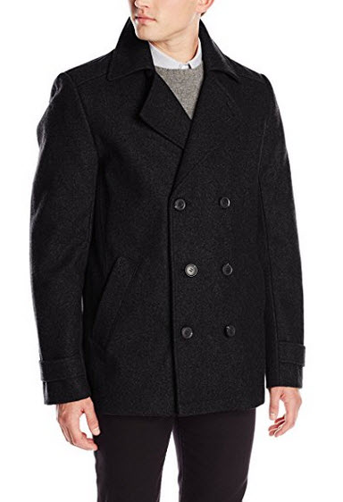 Calvin Klein Men's Double-Breasted Pea Coat.