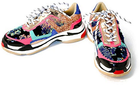 Cape Robbin Women Chunky Trainer Sneakers Flagship, multi