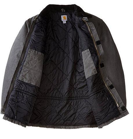 Carhartt Men's Big & Tall Arctic-Quilt Lined Sandstone Duck Traditional Coat C26 .