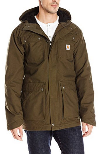Carhartt Men's Faux Shearling Lined Quick Duck Parka .