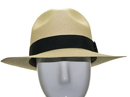CARTER FEDORA Panama Hat Natural Straw Stylish by Ultrafino