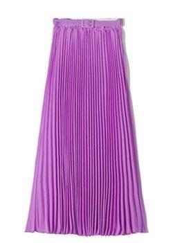 CBTLVSN Women's Casual High Waist Solid Color Chiffon Pleated A-Line Maxi Long Skirt