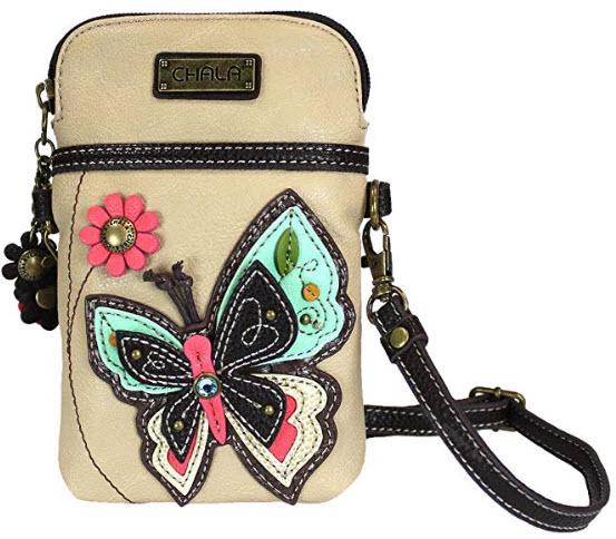 Chala Butterfly Cellphone Crossbody Handbag – Convertible Strap