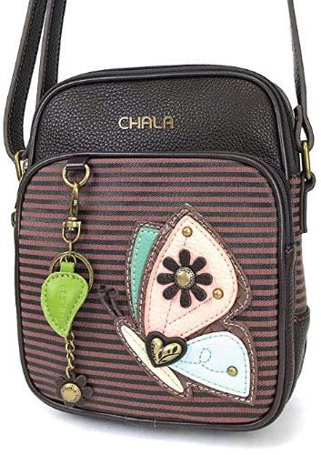 Chala Organizer Crossbody Cell Phone Purse-Women Faux Leather Multicolor Handbag with Adjustable ...