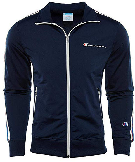 Champion Men's Track Jacket Embroidered Logo midnight navy