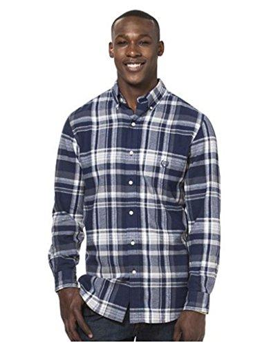 Chaps Men's Big & Tall Classic-Fit Plaid Flannel Button-down Shirt