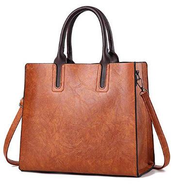 Chooray Women's Handbags Satchel Purses Tote Shoulder Ladies Designer Top Handle bags, brown