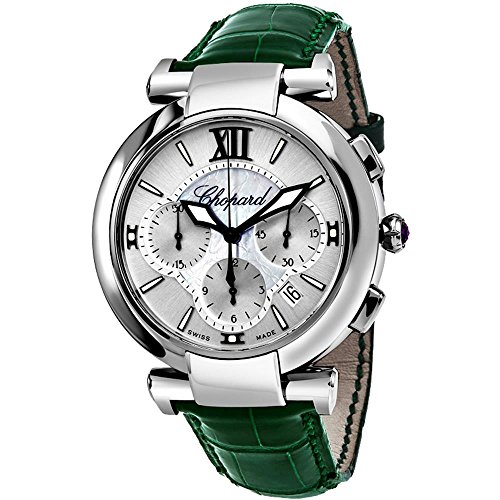 Chopard Men's Imperiale 40mm Green Alligator Leather Band Steel Case Automatic Analog Watc ...