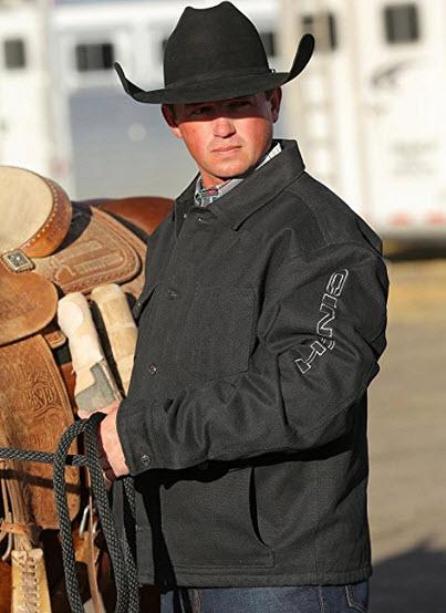 Cinch Men's Lined Canvas Ranch Coat – Mwj1055001 Blk .