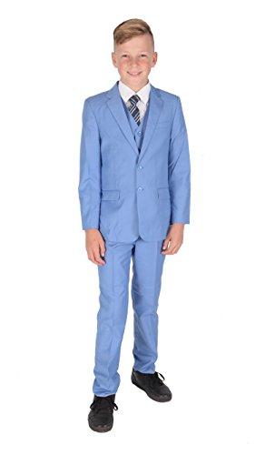 Cinda 5 Piece Light Blue Boy Suits Boys Wedding Suit Page Boy Party Prom