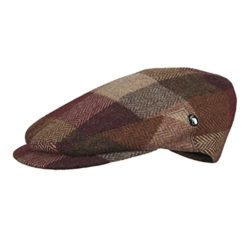 City Sport – Extended Peak – Donegal Tweed Flat Cap – Autumn Brown Herringbone ...
