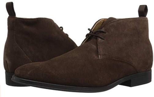 CLARKS Men's Gilman Mid Fashion Boot dark brown suede